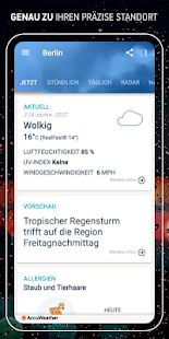 AccuWeather: Wetter Radar & lokale Temperaturen Screenshot