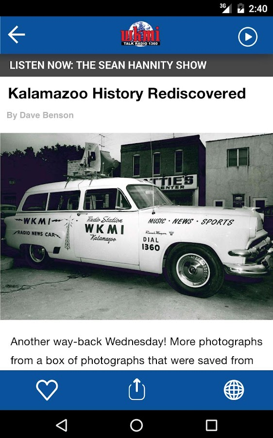 WKMI - Kalamazoo's Talk Radio 1360- screenshot