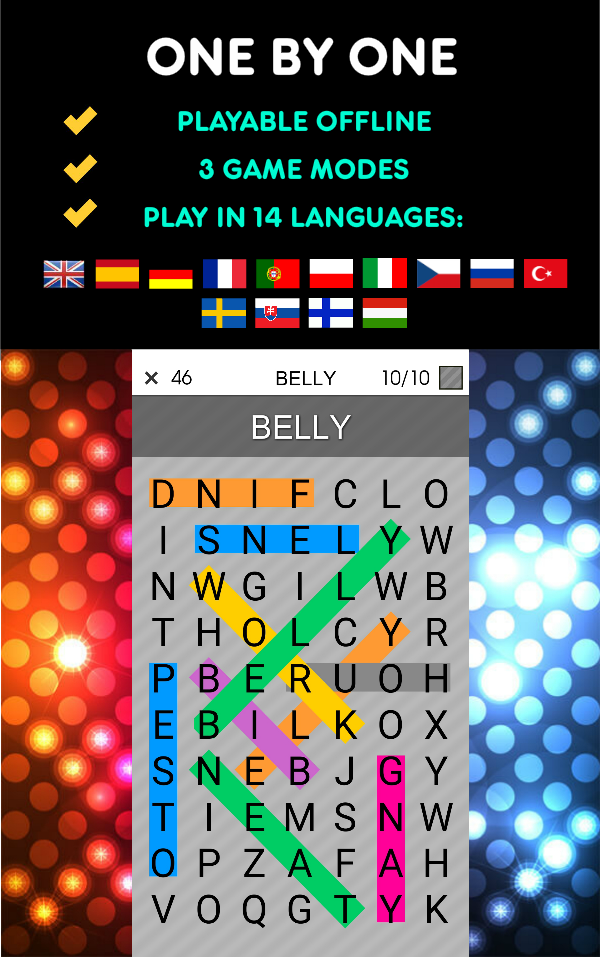 One By One - Multilingual Word Search Screenshot 8