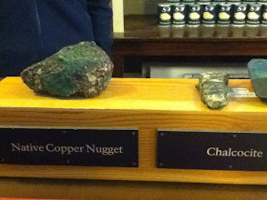 Photo: this is what they were mining for, copper. rocks with a high % of it were pretty heavy; amazing how heavy it is.