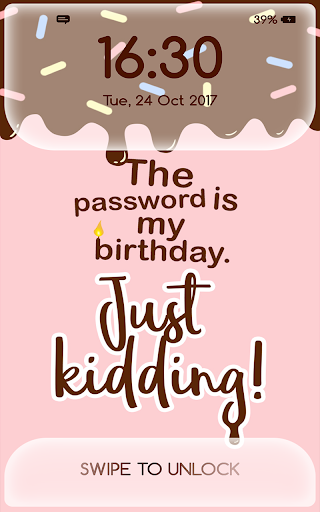 Girly Lock Screen Wallpaper with Quotes 2.3 screenshots 6