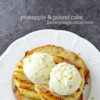 Grilled Pineapple with Pound Cake and Vanilla Ice Cream Recipe