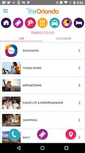 Visit Orlando Destination App - náhled