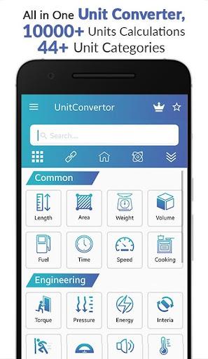 Unit Converter - Unit Conversion Calculator app 10.46 screenshots 1