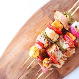 Sweet Chili Pork Shish-Kabobs.