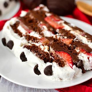 Chocolate-Covered Strawberry Icebox Cake.