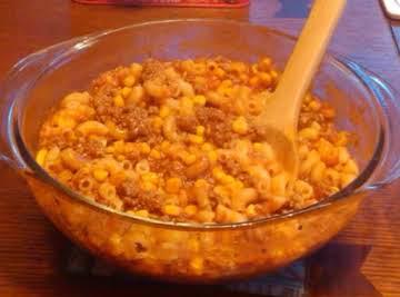 One Dish Macaroni Beef