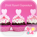 Cute Theme Pink Heart Cupcakes icon