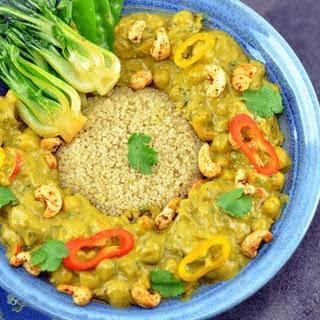 Cashew Chickpea Curry (V+GF).