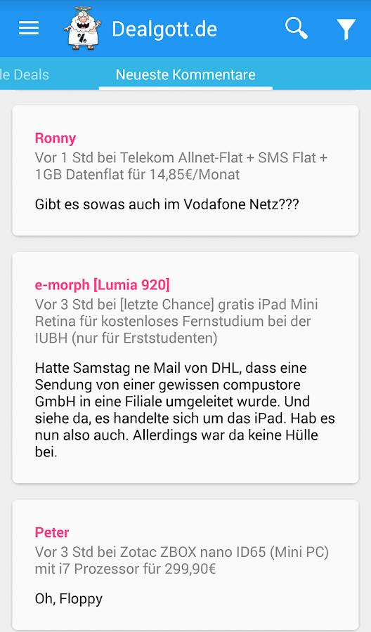 Dealgott - Schnäppchen App- screenshot