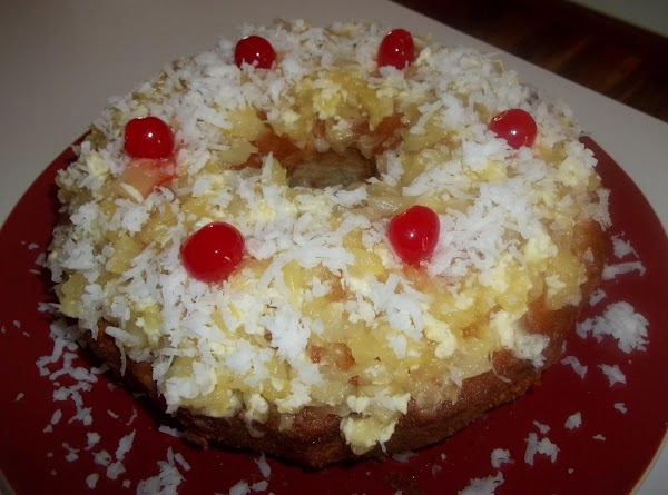 . Combine butter, confectioners' sugar, and about 1 cup drained pineapple.   Pour pineapple sauce...