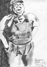 Photo: 全副武裝2012.10.23鋼筆 穿上防彈背心、帶妥戒具,戒護外醫責任重,除了要嚴防脫逃,還得留意收容人病情⋯⋯
