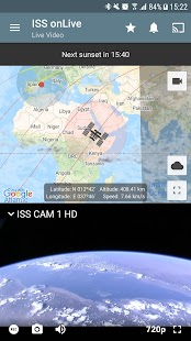 ISS on Live: Unsere Erde HD Live | Chromecast Screenshot