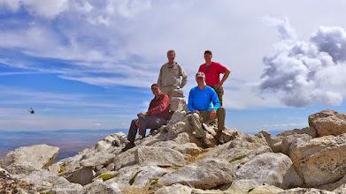 Photo: Peakbaggers - Jim, Gerry, Me, Kacey