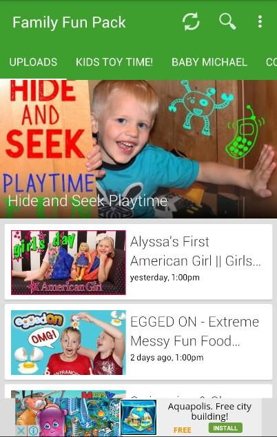 Family Fun Pack Videos Screenshot