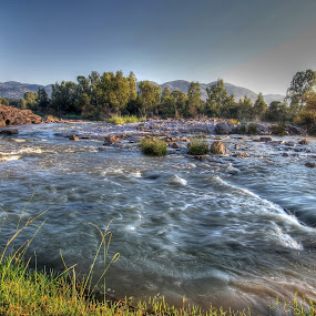 Hakuna Matata by Steven Butler - Landscapes Waterscapes ( water, stream, rapids, vaal, waterscapes, river )