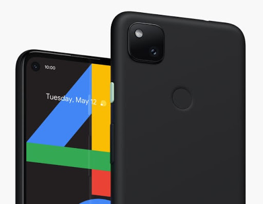 Pixel 4a in black.