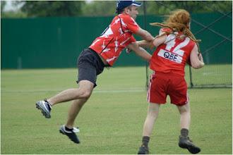 Photo: Phil Crouch takes on Dreadlocks Noamy.