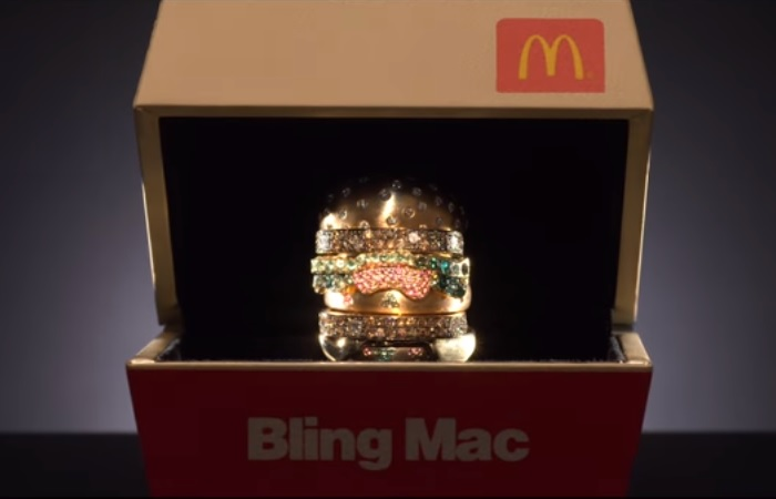 The Bling Mac was designed by fine jewelry designer, Nadine Ghosn.