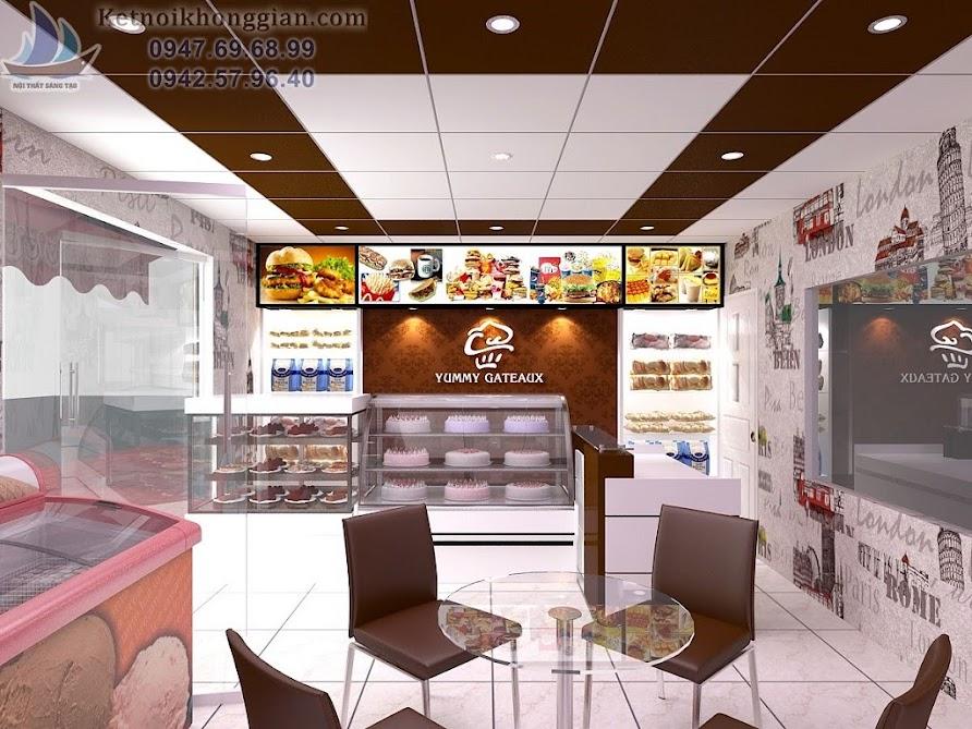 thiết kế cửa hàng bánh ngọt chuyên nghiệp
