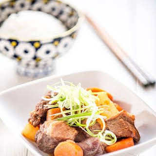 Chinese Daikon, Carrot and Tomato Beef Stew.