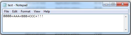 File test