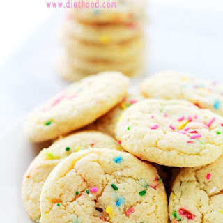 Cake Batter Funfetti Cookies.