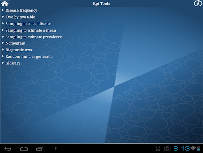 Epi Tools screenshot for Android