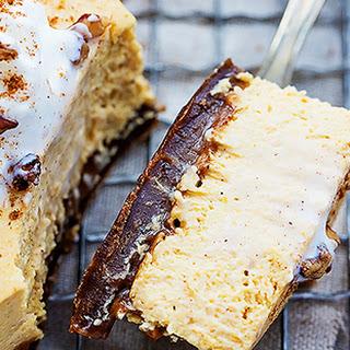 Pumpkin Cheesecake Bars with Gingersnap Crust