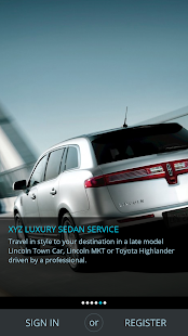 XYZ Ride - Luxury Mobile App- screenshot thumbnail