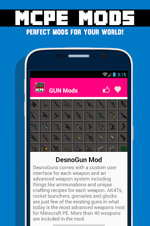 GUN MODS FOR MCPE 1.4.2 screenshot 638883