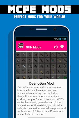 GUN MODS FOR MCPE 1.4.2 screenshot 638883