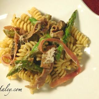 Mushroom Asparagus Mascarpone Pasta