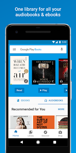 Google Play Books - Ebooks, Audiobooks, and Comics screenshot 1