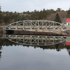Mirror Image  by Linda    L Tatler - Buildings & Architecture Bridges & Suspended Structures