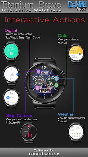 Titanium Brave HD WatchFace Widget Live Wallpaper 4.8.1 screenshots 3