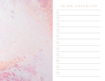 Acid Wash Checklist - Planner Template
