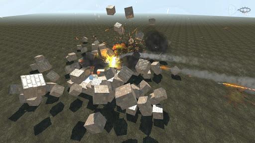 Block destruction simulator: cube rocket explosion App