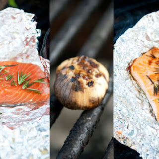 Clean Eating Hot Coal Roasted Garlic and Rosemary Salmon