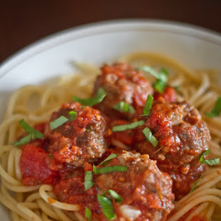 Spaghetti and Bulgur Meatballs.