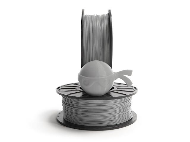NinjaTek Chinchilla Steel Gray TPE Filament - 1.75mm (0.5kg)