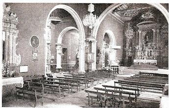 Photo: 01 - Interior templo hacia 1915.