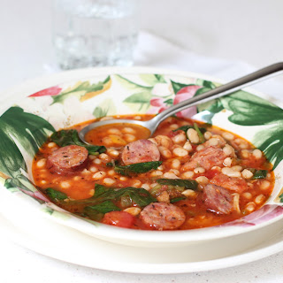 Navy Beans with Kielbasa