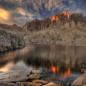 Last Light on the Palisades by Cliff LaPlant - Landscapes Mountains & Hills ( john muir, mountain, america, kings canyon national park, beauty, usa, photography, hiking, range of light, mountains, range of light, camping, sierralara, nikon, national park, wild, sierra nevada, kings canyon, california, discover, united states, united states of america, backpacking, climbing, wilderness, sierra nevada, sierras, outdoors, sierra, ansel adams, scenery, discovery )