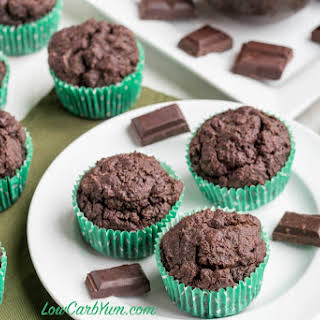 Double Chocolate Muffins - KetoDiet Cookbook.
