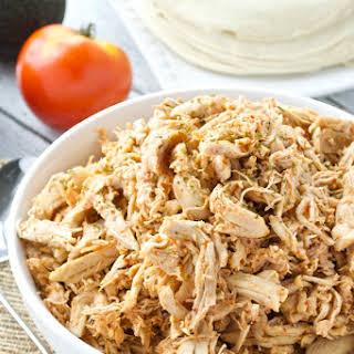 5 Ingredient Shredded Chipotle Chicken.