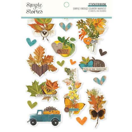 Simple Stories Sticker Book 4X6 12/Pkg - SV Country Harvest
