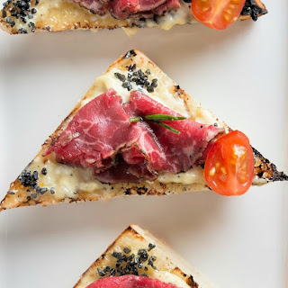 Beef Carpaccio Crostinis Recipe