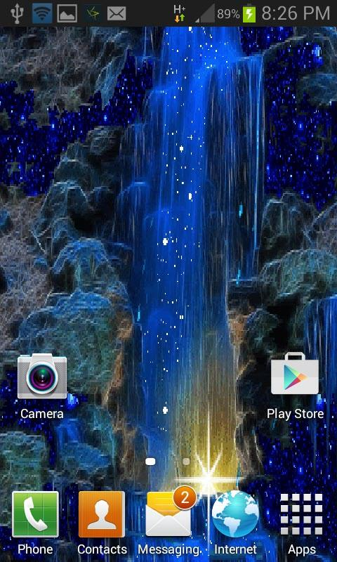 Magic Blue Fall LWP- screenshot