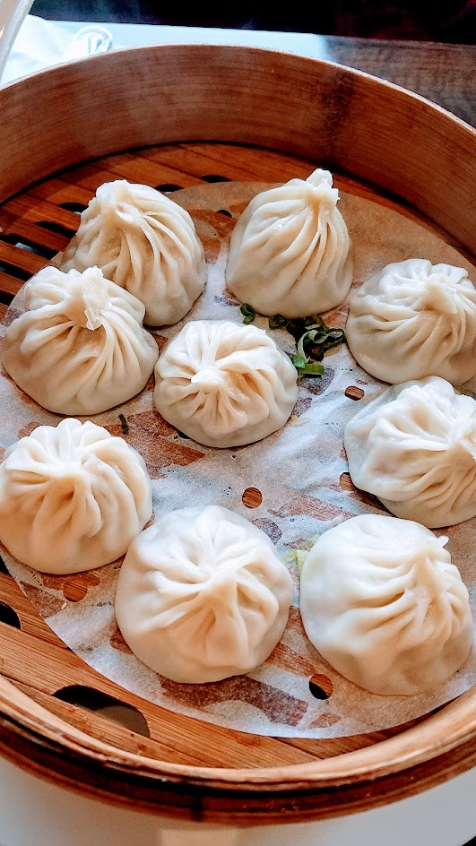 Duck House Chinese Restaurant in Portland xiao long bao or Shanghai Soup Dumplings, famous for having meat and soup inside that doughy pouch of a dumpling. You can choose from pork xiao long bao or shrimp and pork xiao long bao for $1 more